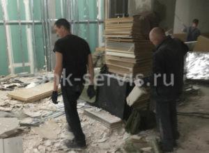 Демонтажные работы в магазине ЗАРА