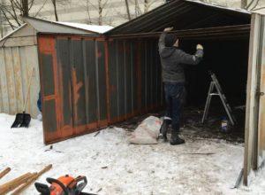 Снос гаража Коломяжский 23